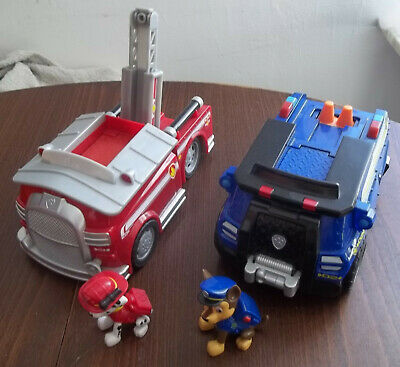 a384f77fc4522 Pat Patrouille lot de 2 gros véhicules sonores deluxe Marcus & Chase Paw  Patrol