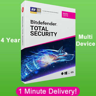 Bitdefender Total Security 2019 - 4 Years | Download Link  (1 Minute Delivery)