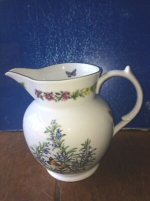Royal Worcester Huge Herbs Jug 19cm diameter 25cm height Holds 8 Pints to rim