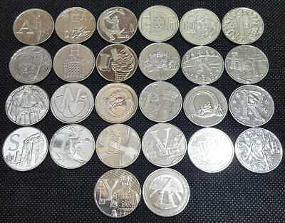 Full Set of Alphabet A-Z 10p Ten Pence Coins Inc Jubilee - Circulated 2018