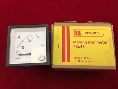 GILGEN  Analogue Panel Ammeter 25/50A AC, 45mm x 45mm Moving Iron