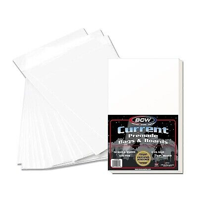 BCW Current Comic Premade Bags and Boards - 50 Pack - Acid Free Clear