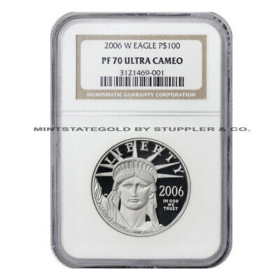 2006-W $100 Platinum Eagle NGC PF70UCAM Ultra Cameo Proof coin 1 ounce .9995