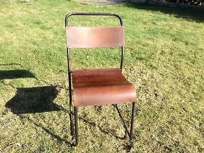 Vintage Mid Century Stacking Hall Cafe Bar Restaurant Chairs. 54 available.