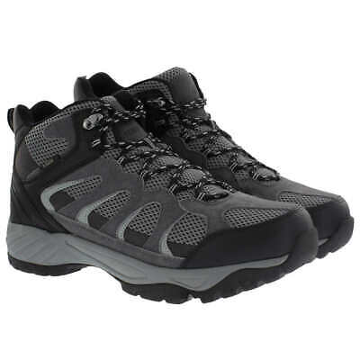 Khombu Men's Tyler Boot, Black, Suede Leather, All Terrain Hiking Boots size 9