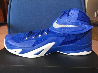 f65e5ab56f73 Nike Zoom Lebron Soldier 8 VIII Royal Blue White 18 James Mens Basketball  Shoes