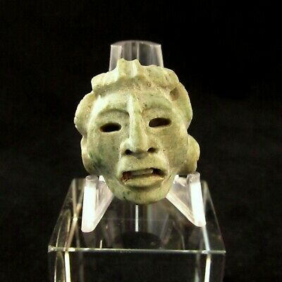Pre-Columbian Mayan Stone Carved Bead or Pendant - Stunning Ancient Art