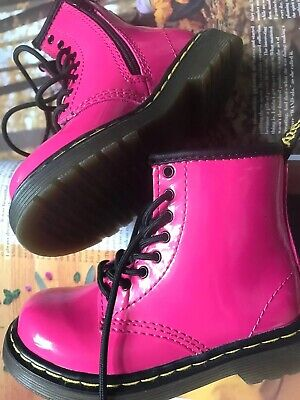 3ce187d34e1e Dr. Martens Kids Brooklee Boot Hot Pink Lamper Toddler Shoes Size 8 us