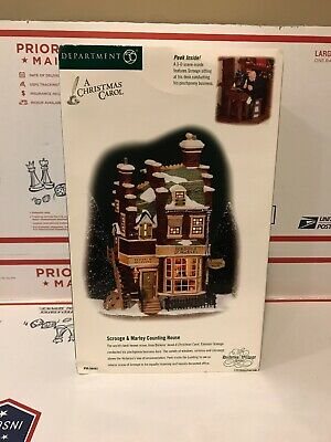 Dept 56 Dickens Village SCROOGE & MARLEY COUNTING HOUSE Lighted Building