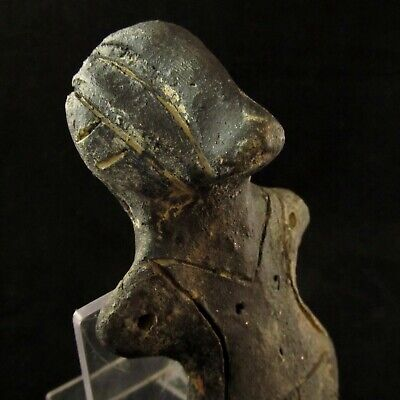 Large Ancient Neolithic /Paleo Vinca Idol Goddess w/ Huge Eyes ~ Museum Quality
