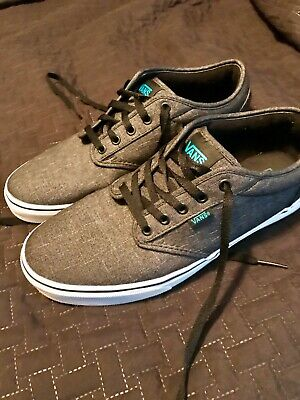 429425b3c667 VANS ATWOOD MENS Textile Black Gray Size 11 Skate Show Sneakers ...