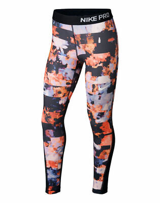 Nwt Girls Nike Pro Floral Printed Dri Fit Training Leggings Size Extra Small Xs