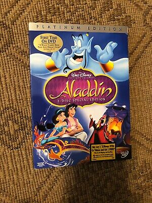 Aladdin DVD,1992, Original 2-Disc Set RARE w/Sleeve Sealed New Platinum Edition