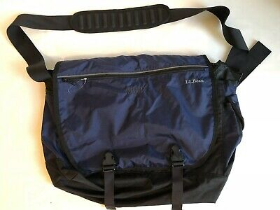 dc6733644853 LL BEAN MESSENGER Computer Laptop College School Shoulder Bag Blue ...
