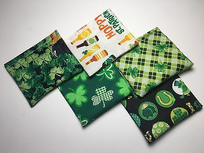 BAG 'O NIP Potent Organic Catnip Pouch LOT OF 5 ST. PATRICK'S Clover Cat Toy