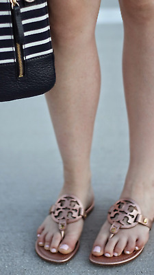 7c8a25b8f NIB TORY BURCH miller sandals. Size 8.5 rose gold color. -  185.00 ...