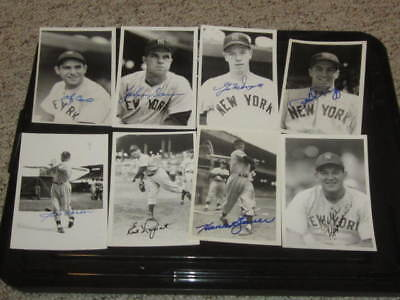 1952 New York Yankees Baseball Autographed Brace 4x6 Photo Collection (11)