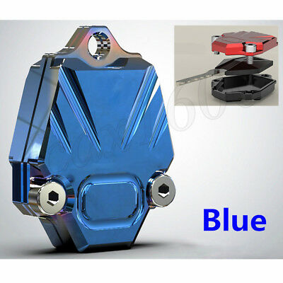 Blue CNC Motorcycle Blade Key Cover Armour Decor Shell Case Accessory Universal