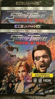 Starship Troopers: Traitors Of Mars - 4K & Blu-ray w/Slipcover - New and Sealed