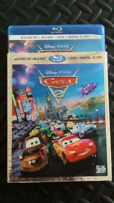 Cars 2 (3D Blu-ray/DVD, 2011, 5-Disc Set) lenticular Slip Cover Case Only