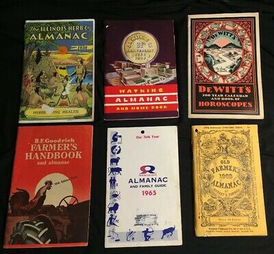 Lot Of Vintage Almanacs