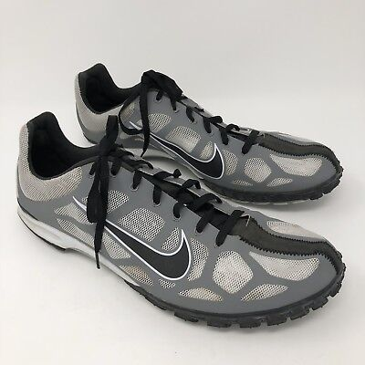 Nike Track Field Size 12 Shoes Spikes Athletic Sport Mesh Gray Black Mens      a9864aa95dfa3