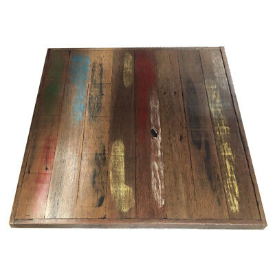 Custom Reclaimed Timber Cafe Restaurant Dining Table Top - 700 x 700
