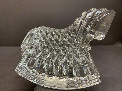 Vintage Irish Waterford Crystal Glass Toy Rocking Horse Figurine Paperweight