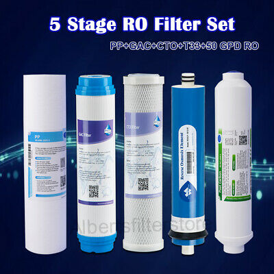 5 Stage Home Drinking RO System Filter Set Fit expresswater Apec Water Units NSF