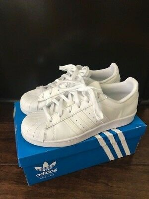 26a60cd896b00c Adidas white SUPERSTAR FOUNDATION J Boys Sneakers SHOES B23641 size  6.5