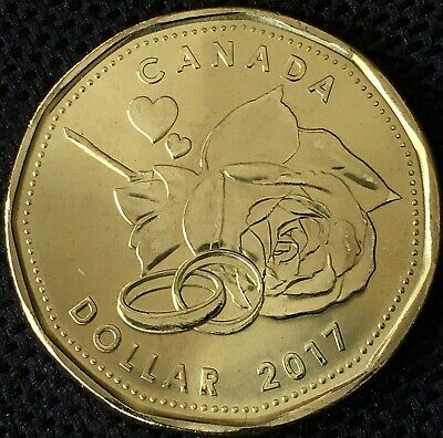 Special Loonie - Canada Mint Set Married in 2017 1 Dollar Coin, UNC