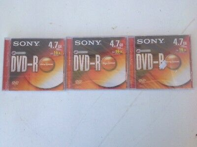 Three Blank  Sony Dvd Recordable Disc