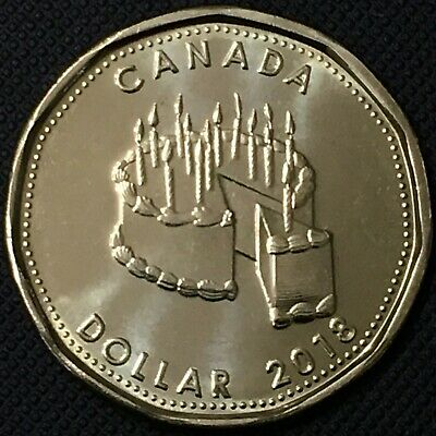 Special Loonie - Canada Mint Set 2018 Happy Birthday 1 Dollar Coin, UNC