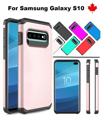 "For Samsung Galaxy S10 (6.1"") - Slim Armor Hybrid silicone Hard TPU Case Cover"
