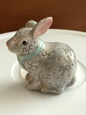 """Nora Fleming Funny Bunny Mini A226 Ceramic 2.5/"""" Hand-Painted Easter Rabbit NEW"""