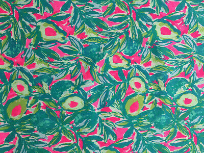 4e61174aba9f42 LILLY PULITZER FABRIC Guac and Roll Dobby cotton 1 Yard 36
