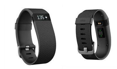 Fitbit Charge HR Heart Rate and Sleep Wristband Black Large, Small