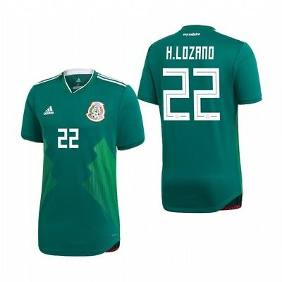 712d99be4 Adidas Hirving Lozano Mexico 2018 World Cup Home Authentic Player Jersey  Patches