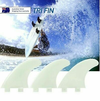 WHITE FCS G5 Surfboard Fins FCS Twin Tab Performance Surfing Thruster