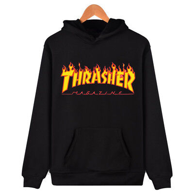 Men Women Hoodie Sweater Hip hop Skateboard Thrasher Sweatshirts Pullover Coats
