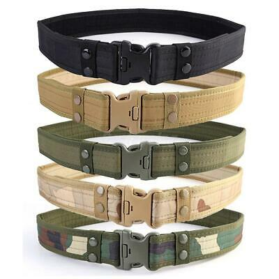 Casual Military Tactical Canvas Outdoor Men's Belts Camouflage Clothes Belt EU