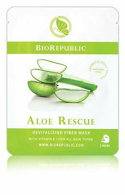 BioRepublic Aloe Rescue Revitalizing Fiber Sheet Face Mask Facial Masque NEW