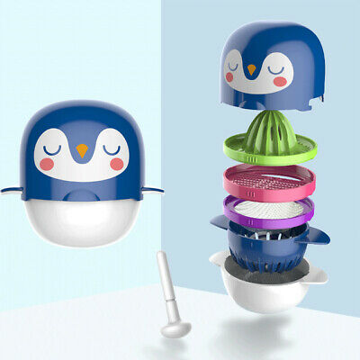 Cartoon Pattern Baby Food Masher Feeder Smasher Fresh Vegetable Fruit Grinder