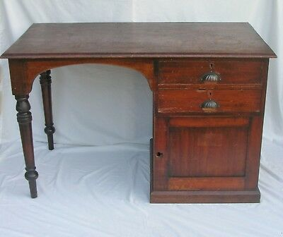 Early COLONIAL Australian Government Pine PEDESTAL DESK Crown Stamp c1800s