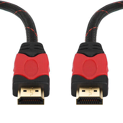 1M/2M/3M/4M/7M/8M/10M Braided Ultra HD 1080P 4K HDMI Cable V1.4 Hi-Speed HDTV AU