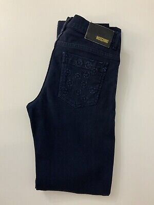 Moschino Boys Blue Jeans, Size Age 10a, 140 Cm, Vgc