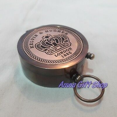 Brass Compass Copper Lid Vintage Antique Gift Item