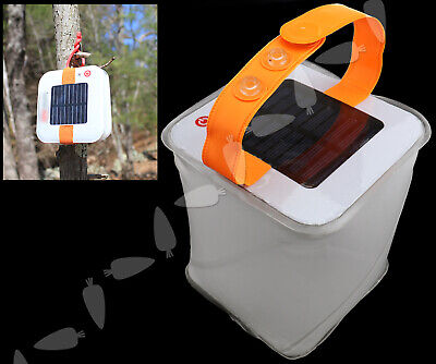 Inflata LED Light Outdoor Activi Waterproof Solar Power Survival Camping Lamp