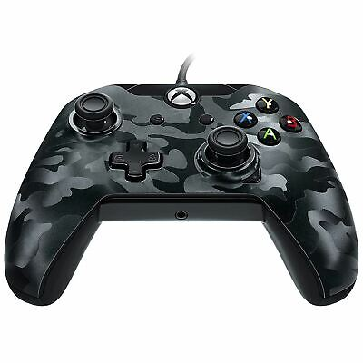 PDP Wired Controller Black Camo Xbox One Brand New Sealed Official