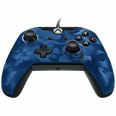 PDP Wired Controller Blue Camo Xbox One Brand New Sealed Official